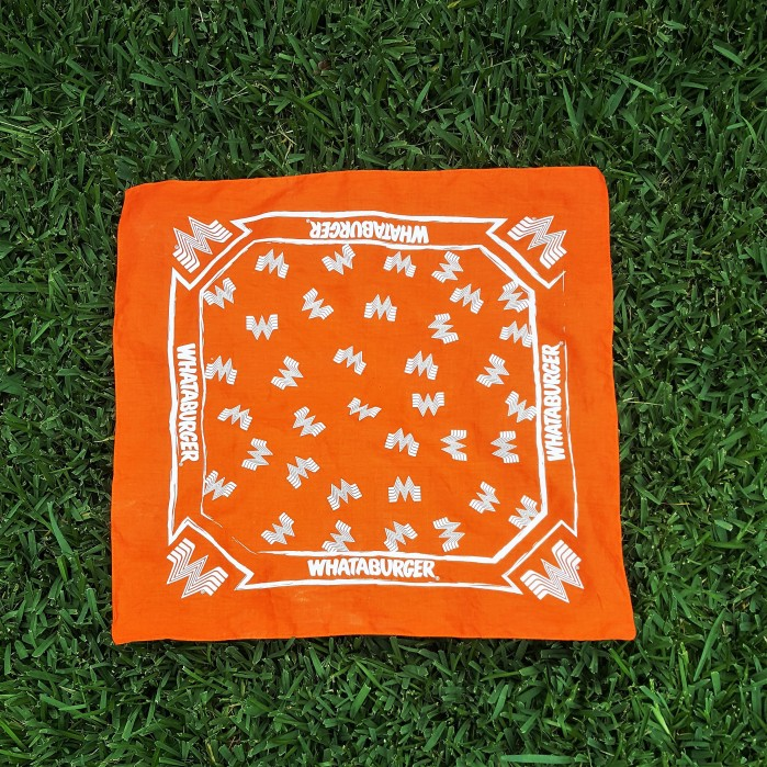 orange whataburger bandana
