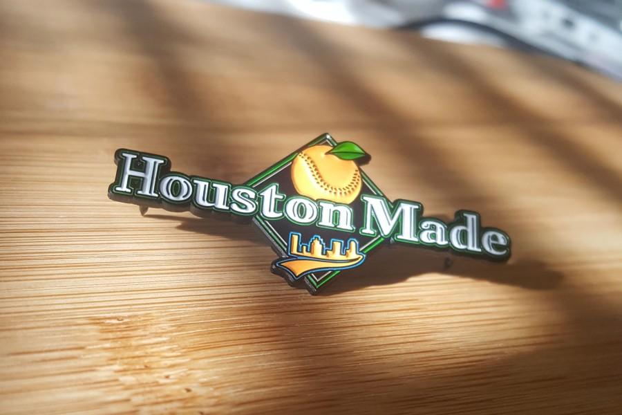 houston made enamel pin
